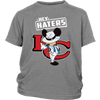 NFL - Kansas City Chiefs Hey Haters Mickey Mouse Shirts-T-shirt-District Youth Shirt-Sport Grey-XS-Itees Global