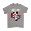NFL - Kansas City Chiefs Hey Haters Mickey Mouse Shirts-T-shirt-Gildan Mens T-Shirt-Sport Grey-S-Itees Global