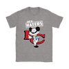 NFL - Kansas City Chiefs Hey Haters Mickey Mouse Shirts-T-shirt-Gildan Womens T-Shirt-Sport Grey-S-Itees Global