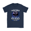 NFL – Mess With Me I Fight Back Mess With My Tennessee Titans And They'll Never Find Your Body The Punisher NFL Football Shirt-T-shirt-Gildan Womens T-Shirt-Navy-S-PopsSpot