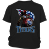 NFL – Tennessee Titans Thor Captain America Spiderman Shirts-T-shirt-District Youth Shirt-Black-XS-PopsSpot