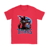 NFL – Tennessee Titans Thor Captain America Spiderman Shirts-T-shirt-Gildan Womens T-Shirt-Red-S-PopsSpot