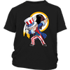 NFL - Washington Redskins Uncle Sam Dabbing Independence Day NFL Football Shirts-T-shirt-District Youth Shirt-Black-XS-PopsSpot