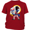NFL - Washington Redskins Uncle Sam Dabbing Independence Day NFL Football Shirts-T-shirt-District Youth Shirt-Red-XS-PopsSpot