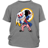 NFL - Washington Redskins Uncle Sam Dabbing Independence Day NFL Football Shirts-T-shirt-District Youth Shirt-Sport Grey-XS-PopsSpot