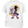 NFL - Washington Redskins Uncle Sam Dabbing Independence Day NFL Football Shirts-T-shirt-District Youth Shirt-White-XS-PopsSpot