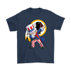 NFL - Washington Redskins Uncle Sam Dabbing Independence Day NFL Football Shirts-T-shirt-Gildan Mens T-Shirt-Navy-S-PopsSpot