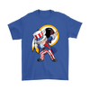 NFL - Washington Redskins Uncle Sam Dabbing Independence Day NFL Football Shirts-T-shirt-Gildan Mens T-Shirt-Royal Blue-S-PopsSpot
