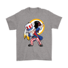 NFL - Washington Redskins Uncle Sam Dabbing Independence Day NFL Football Shirts-T-shirt-Gildan Mens T-Shirt-Sport Grey-S-PopsSpot