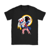NFL - Washington Redskins Uncle Sam Dabbing Independence Day NFL Football Shirts-T-shirt-Gildan Womens T-Shirt-Black-S-PopsSpot