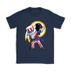 NFL - Washington Redskins Uncle Sam Dabbing Independence Day NFL Football Shirts-T-shirt-Gildan Womens T-Shirt-Navy-S-PopsSpot