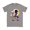 NFL - Washington Redskins Uncle Sam Dabbing Independence Day NFL Football Shirts-T-shirt-Gildan Womens T-Shirt-Sport Grey-S-PopsSpot