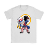 NFL - Washington Redskins Uncle Sam Dabbing Independence Day NFL Football Shirts-T-shirt-Gildan Womens T-Shirt-White-S-PopsSpot