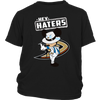 NHL - Anaheim Ducks Hey Haters Mickey Mouse Shirts-T-shirt-District Youth Shirt-Black-XS-Itees Global