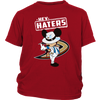 NHL - Anaheim Ducks Hey Haters Mickey Mouse Shirts-T-shirt-District Youth Shirt-Red-XS-Itees Global