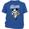 NHL - Anaheim Ducks Hey Haters Mickey Mouse Shirts-T-shirt-District Youth Shirt-Royal Blue-XS-Itees Global