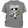 NHL - Anaheim Ducks Hey Haters Mickey Mouse Shirts-T-shirt-District Youth Shirt-Sport Grey-XS-Itees Global
