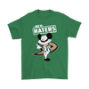 NHL - Anaheim Ducks Hey Haters Mickey Mouse Shirts-T-shirt-Gildan Mens T-Shirt-Irish Green-S-Itees Global