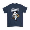 NHL - Anaheim Ducks Hey Haters Mickey Mouse Shirts-T-shirt-Gildan Mens T-Shirt-Navy-S-Itees Global