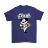 NHL - Anaheim Ducks Hey Haters Mickey Mouse Shirts-T-shirt-Gildan Mens T-Shirt-Purple-S-Itees Global