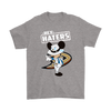 NHL - Anaheim Ducks Hey Haters Mickey Mouse Shirts-T-shirt-Gildan Mens T-Shirt-Sport Grey-S-Itees Global