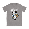 NHL - Anaheim Ducks Hey Haters Mickey Mouse Shirts-T-shirt-Gildan Womens T-Shirt-Sport Grey-S-Itees Global