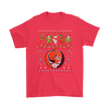 NFL - Cleveland Browns Christmas Grateful Dead Jingle Bears Football Ugly Sweatshirt-T-shirt-Gildan Mens T-Shirt-Red-S-Itees Global