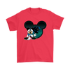 NFL – Carolina Panthers Mickey Mouse Football Shirts-T-shirt-Gildan Mens T-Shirt-Red-S-Itees Global