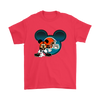 NFL – Cleveland Browns Mickey Mouse Football Shirts-T-shirt-Gildan Mens T-Shirt-Red-S-Itees Global