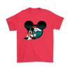 NFL – Denver Broncos Mickey Mouse Football Shirts-T-shirt-Gildan Mens T-Shirt-Red-S-Itees Global