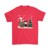 NFL – Chicago Bears Snoopy The Peanuts Movie Christmas Football Super Bowl Shirt-T-shirt-Gildan Mens T-Shirt-Red-S-PopsSpot