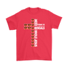 NFL – All I Need Today Is A Little Bit Of Cincinnati Bengals And A Whole Lot Of Jesus Football Shirts-T-shirt-Gildan Mens T-Shirt-Red-S-PopsSpot