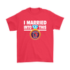 NFL - I Married Into This Houston Texans Football Sweatshirt-T-shirt-Gildan Mens T-Shirt-Red-S-Itees Global