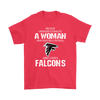 NFL - Never Underestimate A Woman Who Watches Football And Loves Atlanta Falcons Sweatshirt-T-shirt-Gildan Mens T-Shirt-Red-S-PopsSpot