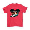 NFL – Cincinnati Bengals Mickey Mouse Football Shirts-T-shirt-Gildan Mens T-Shirt-Red-S-PopsSpot