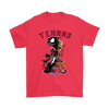 NFL – Houston Texans Venom Groot Guardian Of The Galaxy Football Shirts-T-shirt-Gildan Mens T-Shirt-Red-S-Itees Global