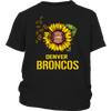 NFL - Denver Broncos Sunflower Football NFL Shirts-T-shirt-District Youth Shirt-Black-XS-Itees Global