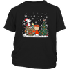 NFL – Denver Broncos Snoopy The Peanuts Movie Christmas Football Super Bowl Shirt-T-shirt-District Youth Shirt-Black-XS-PopsSpot