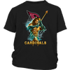 NFL – Arizona Cardinals Aquaman Football Shirts-T-shirt-District Youth Shirt-Black-XS-PopsSpot
