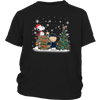 NFL – Chicago Bears Snoopy The Peanuts Movie Christmas Football Super Bowl Shirt-T-shirt-District Youth Shirt-Black-XS-PopsSpot