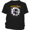 NFL – Awesome Baltimore Ravens Football Shirts-T-shirt-District Youth Shirt-Black-XS-PopsSpot