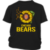 NFL - Chicago Bears Sunflower Football NFL Shirts-T-shirt-District Youth Shirt-Black-XS-Itees Global