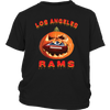 NFL – Halloween Pumpkin Los Angeles Rams Football NFL Shirts-T-shirt-District Youth Shirt-Black-XS-Itees Global