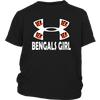 NFL – Cincinnati Bengals Girl Under Armour Football Shirts-T-shirt-District Youth Shirt-Black-XS-PopsSpot
