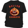 NFL – Halloween Pumpkin Dallas Cowboys Football NFL Shirts-T-shirt-District Youth Shirt-Black-XS-Itees Global