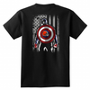 NFL - Cleveland Browns Captain America Marvel Football American Flag Sweatshirt-T-shirt-District Youth Shirt-Black-XS-PopsSpot