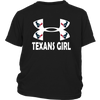 NFL – Houston Texans Girl Under Armour Football Shirt-T-shirt-District Youth Shirt-Black-XS-Itees Global