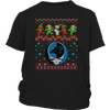 NFL - Carolina Panthers Christmas Grateful Dead Jingle Bears Football Ugly Sweatshirt-T-shirt-District Youth Shirt-Black-XS-PopsSpot
