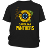 NFL - Carolina Panthers Sunflower Football NFL Shirts-T-shirt-District Youth Shirt-Black-XS-Itees Global