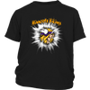 NFL – Awesome Minnesota Vikings Football Shirts-T-shirt-District Youth Shirt-Black-XS-PopsSpot